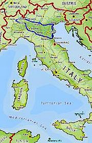 Map showing the path of the Best of Northern Italy tour