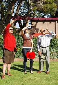 2 bird spotters and their private guide
