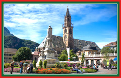Experience the unique, German influenced architecture of the town of Bolzano.