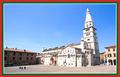 The Torre Della Ghirlandina is considered to be the traditional symbol of Modena.