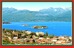 Luxury villas line the shores of Lake Maggiore.
