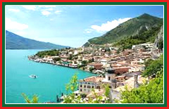 The remains of old lemon houses can be found amongst the lakeside buildings in Limone.