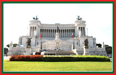 The Il Vittoriano monument is dedicated to King Victor Emmanuel II.