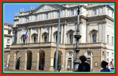 Visit the luxurious La Scala opera house in Milan.