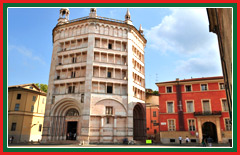 The Baptistery of Parma is one of the most important medieval structures in Italy.