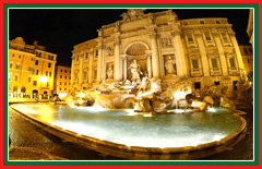 View the Trevi fountain, one of the most famous fountains in the world.