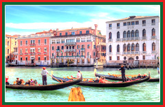 Navigate the canals of Venice in a private water taxi.