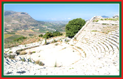 Summer plays are performed at Segesta's historic Greek amphitheatre.
