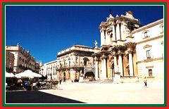 The cathedral of Siracusa is an adapted 5th century temple.