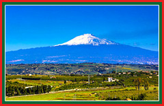 View Mt Etna, Italy's highest active volcano.