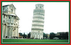 View the famous leaning tower of Pisa in the Piazza dei Miracoli.