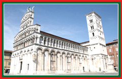 Experience the Pisan Romanesque style architecture of the San Michele in Foro.