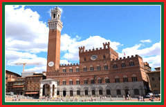 The Palazzo Pubblico in Siena is a symbol of the city's freedom.