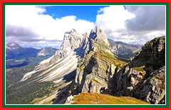 Explore the 200 million year old Dolomite mountain range.