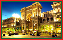 Tour the Galleria Vittorio Emanuele; one of Italy's oldest shopping centres.