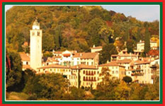 Down from Monte Grappa, your driver will take you through Asolo.