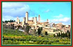 Private tour of the medieval, walled village of San Gimignano.